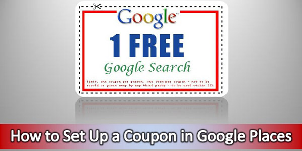 Coupon in Google Places